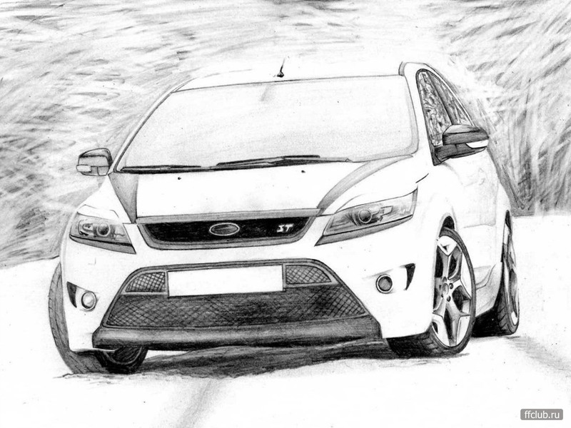 Как нарисовать форд фокус 2