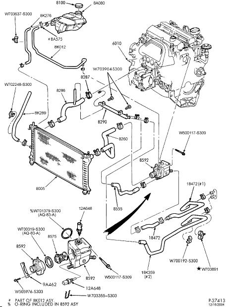 Схема термостата на форд