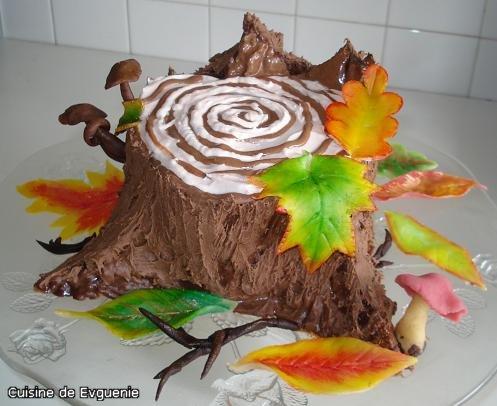 Торт пенек с фото пошагово