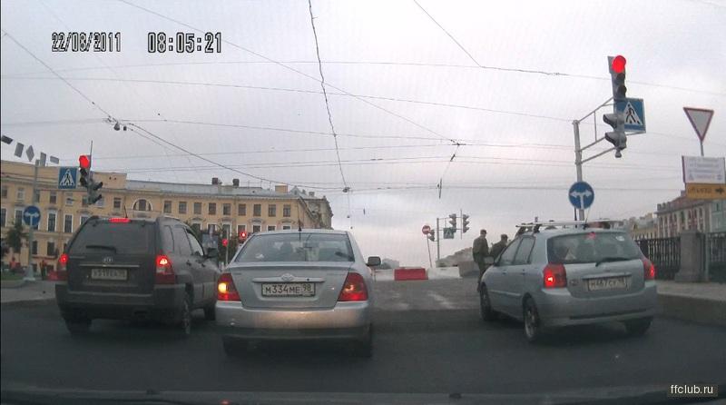 Дороги Санкт-Петербурга.  Stabbo 22 Августа 2011.  Хотя Гороховая в ту сторону числится полностью перекрытой.