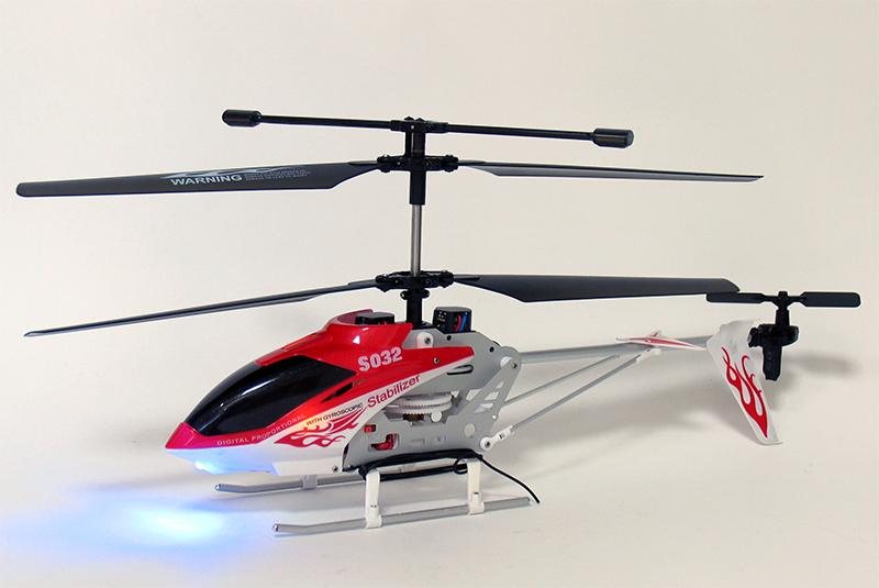 Радиоуправляемый вертолёт соосной схемы SYMA S032 - специально предназначен для начинающих, так как очень прост в...