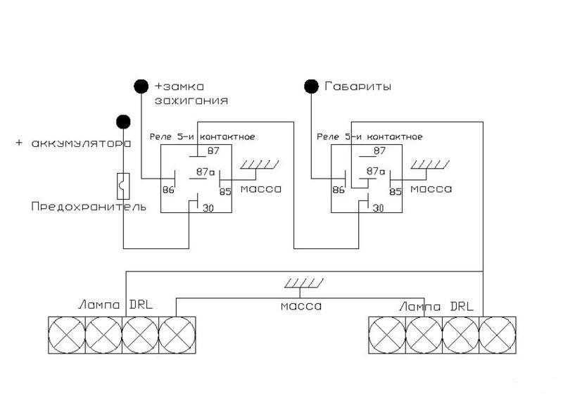 Фото №22 - схема подключения дхо на ВАЗ 2110