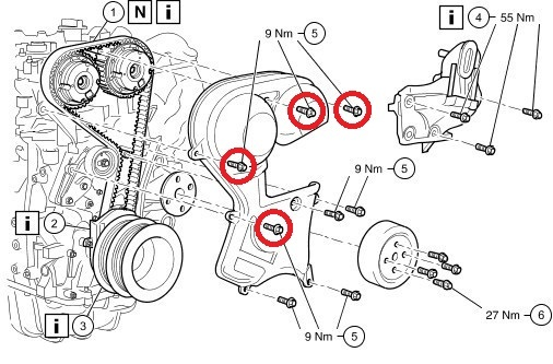 ford c max 2003-2007 замена грм рекомендации
