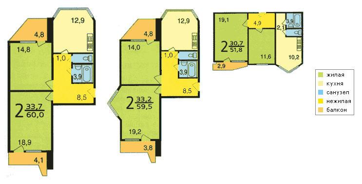 Живёт кто в п-44т - размеры 2-к и 3-к кв. / курилка - ffclub.