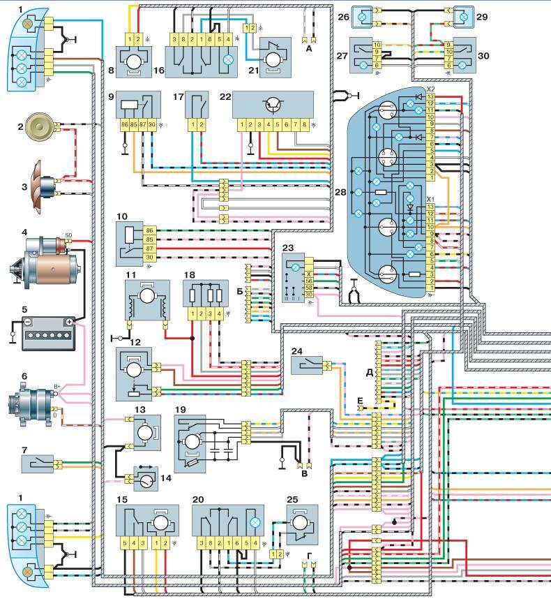 Форд-фокус 1 схема акпп
