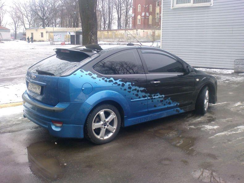 Покраска авто в два цвета