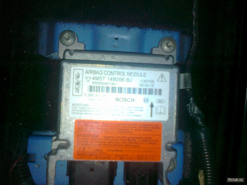 ford c max резистор вместо подушки