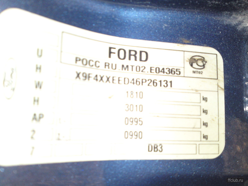 автоэмаль ford c-max sea grey (met) спб