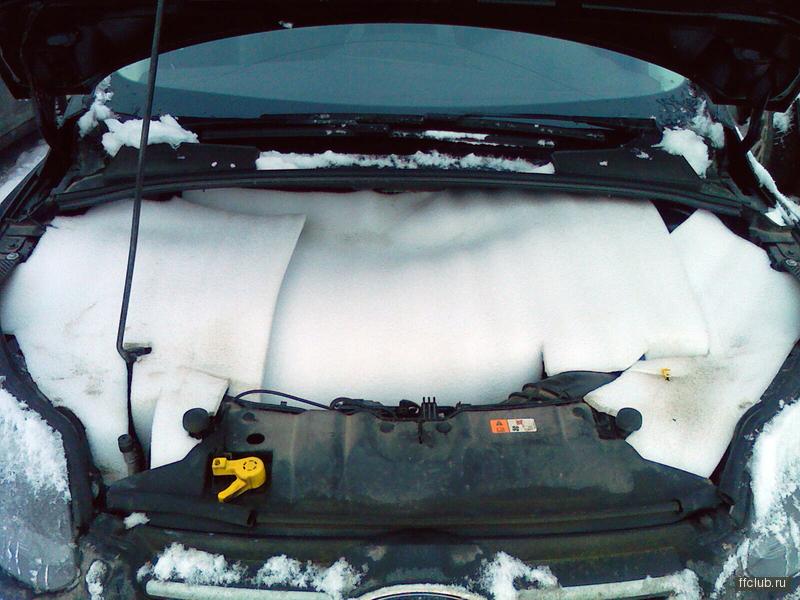 Чем утеплить двигатель авто на зиму своими руками 20