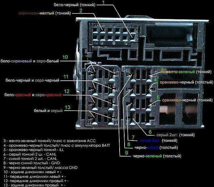 схема подключения ford 6000cd