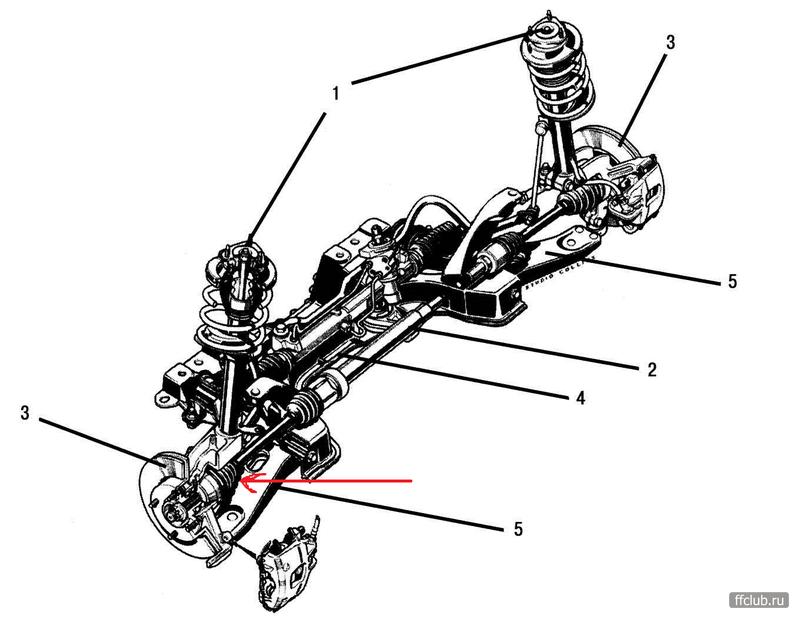 Передняя подвеска Ford Focus.  Замена поворотного кулака.