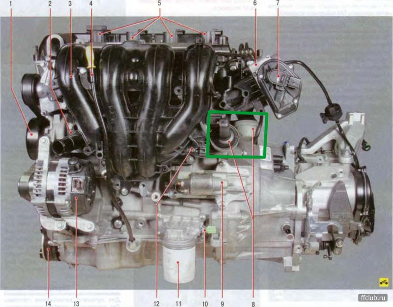 Тормоза работают нормально. где пневматические камеры управления каналами впускного коллектора указаны сноской 8.