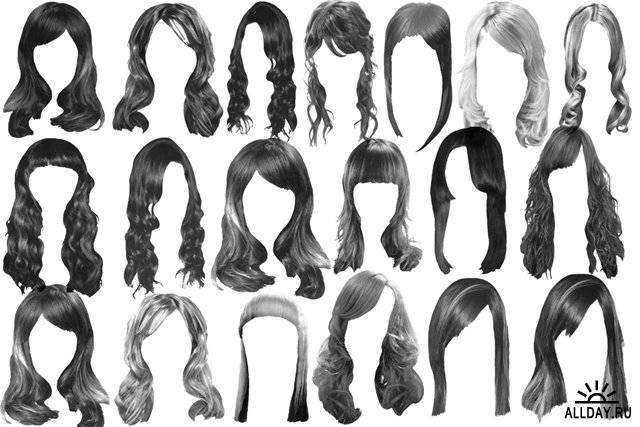Запросто.  С кистями для фотошопа в виде длинных женских причесок вы всегда...