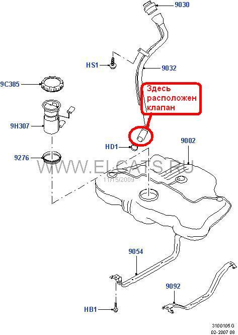 Топливный бак форд фокус 2 схема