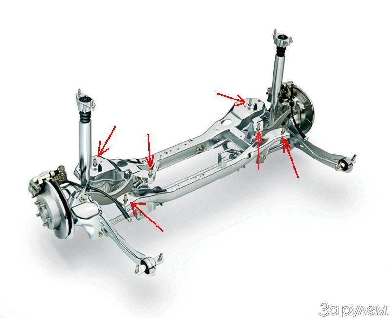 форд мондео ремонт задней подвески #4