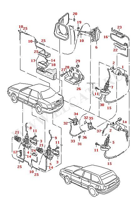 2497055. Электропривод багажника. схема разводки ЦЗ на ауди 80 Б4.  FF2 Доп.оборудование и запчасти...