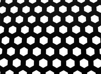 Сетки, Сетка алюминиевая (120x40см), черная с шестиугольной перфорацией AG-05-1 BLACK...