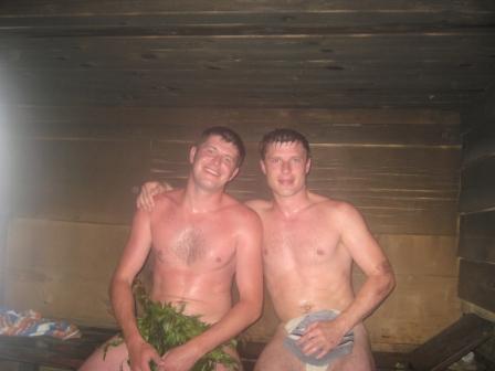 голые парни с девочками в бане