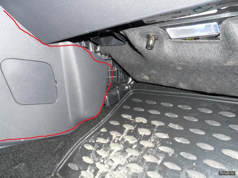 Где находиться салонный фильтр форд 3