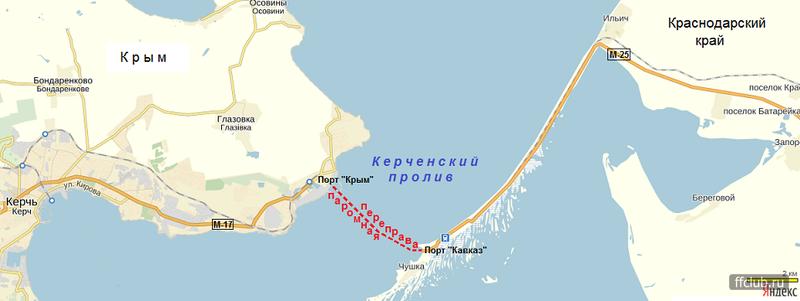 Карта-схема по маршруту Москва