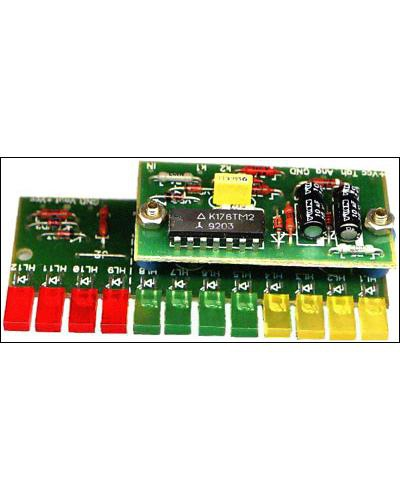Это электронный конструктор автомобильного тахометра.  Тоесть продается пакетик с детальками печатной платой и схемой.