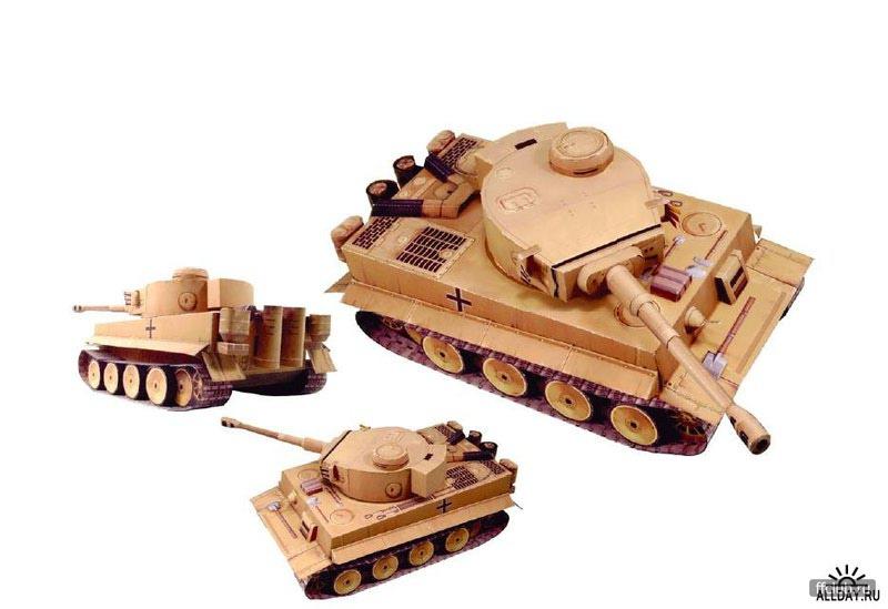 Модель танка из бумаги - Скачать программы и документы