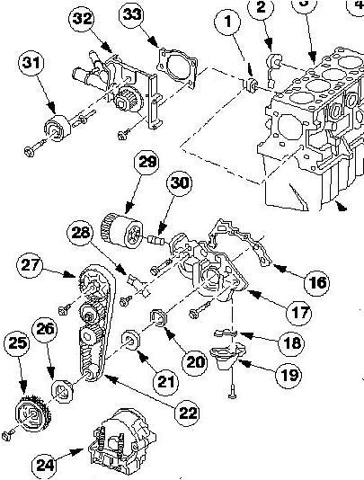 Как заменить передний сальник коленвала двигателя рокам 1 6 форд фокус 1 4 фотография