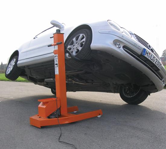 Мобильный подъемник для авто своими руками 30