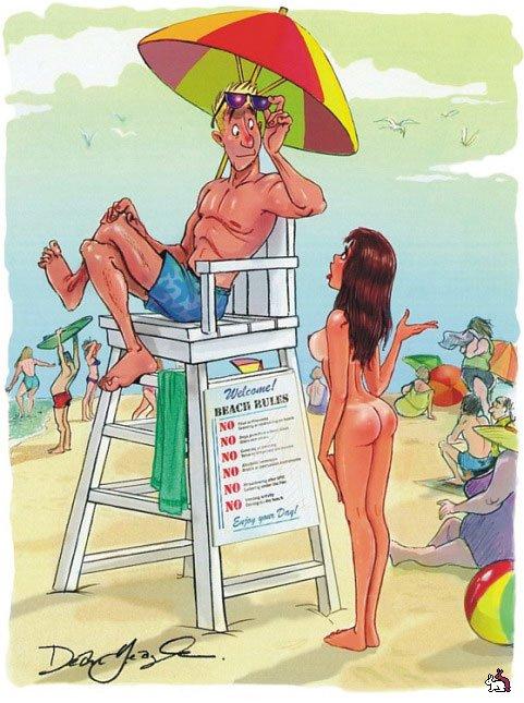 Эротика на пляже рисунки, картинки женщин в чулках и платье