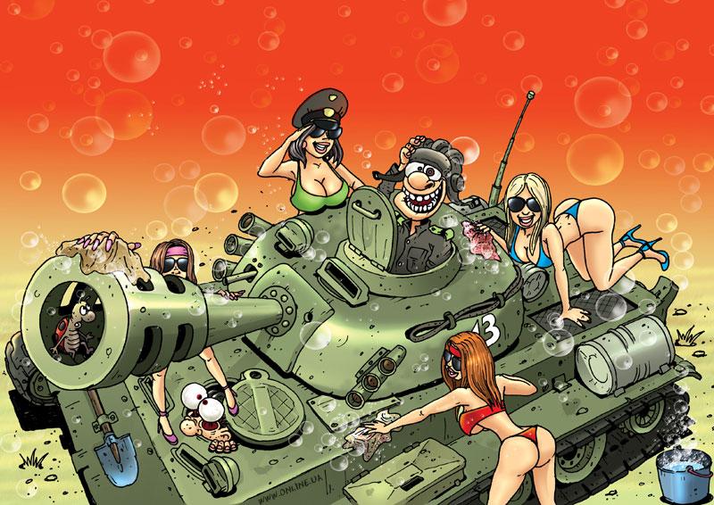 Открытка с танком ко дню рождения брата